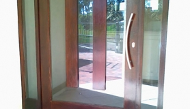Glass entrance door
