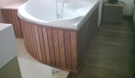 Wood Paneling - bath enclosure