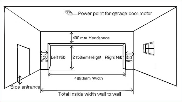 Double doors double garage door dimensions for Garage door dimensions