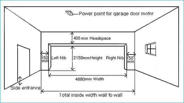 Ideas 25 Of Double Garage Door Size, Double Garage Door Dimensions South Africa